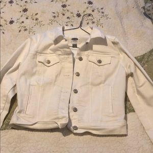 Old Navy white denim jacket